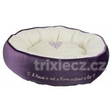 TRIXIE Pelech kulatý PET´S HOME 50 cm fialovo/krémový