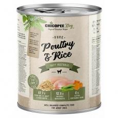 CHICOPEE ADULT čisté drůbeží s rýží konzerva pro psy 800 g