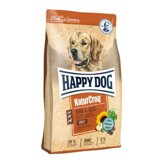 Happy Dog NaturCroq RIND & REIS / Beef & Rice  4 kg