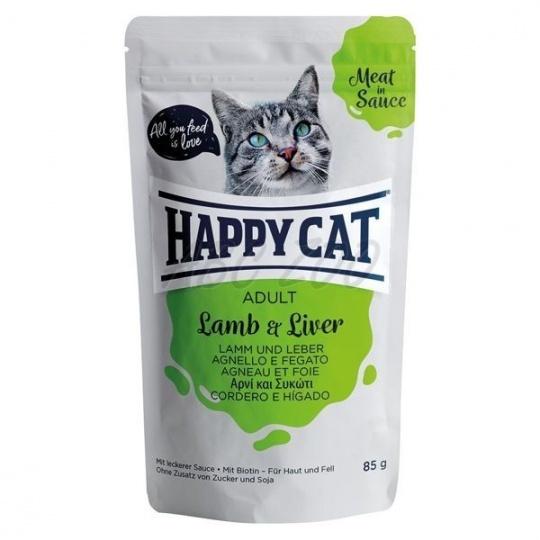 Happy Cat Adult Meat in Sauce Kapsička Jahňa & Pečeň 0,85 g