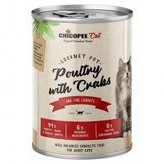 CHICOPEE ADULT GOURMET drůbeží, krabí konzerva pro kočky 400 g