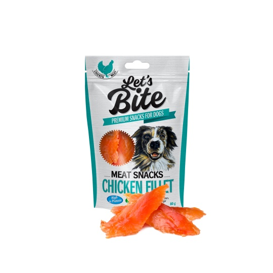 Brit Let's Bite Meat Snacks Chicken Fillet 300g
