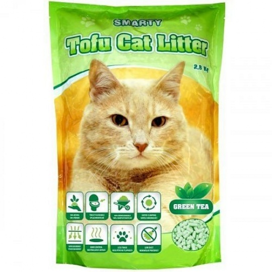 Smarty Tofu Cat Litter Green Tea 6 L
