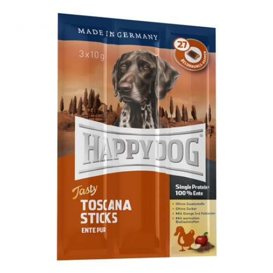 Happy Dog Supreme Tasty Neuseeland Sticks 3 x 10g Kačka