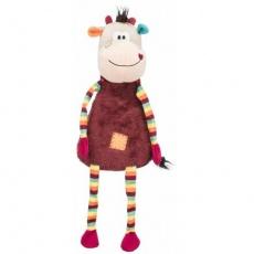 COW, plyšová kráva se zvukem dlouhonohá, 53 cm