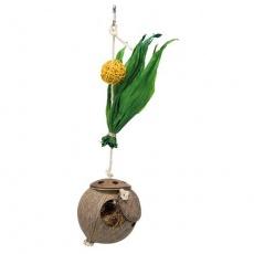 Hračka kokosový ořech na sisalovém laně 35 cm