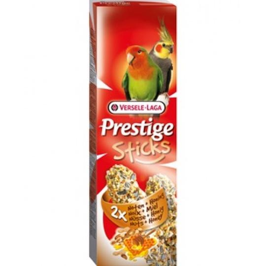 Versele Laga Prestige Sticks Parakeets Nuts & Honey Tyčinky pre  papagáje Med & Orechy 140 g ( 2ks)