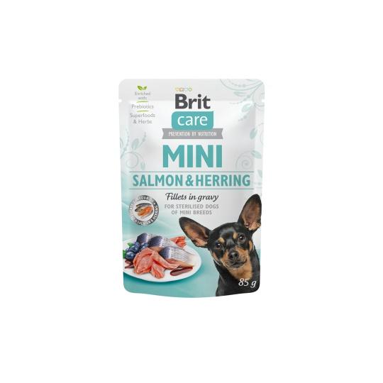 Brit Care Dog Mini Sterilised Salmon&Herring steril fillets 85g