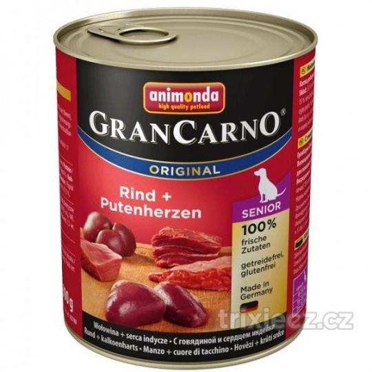 Animonda Gran Carno Senior Hovädzie & morčacie srdcia 800 g