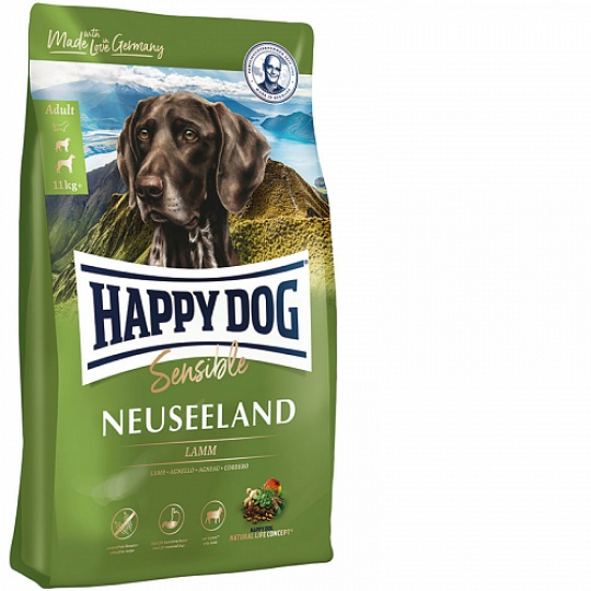 Happy Dog Supreme Sensible Neuseeland Jahňa & Ryža 1 kg