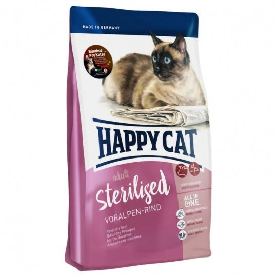 Happy Cat Adult Sterilised Voralpen-Rind 10 kg  + DOPRAVA ZDARMA