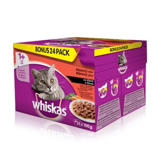 Whiskas Menu zo 4 druhov mäsa v šťave 48pack