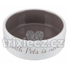 TRIXIE Pet´s home keramická miska  krémovo/hnedá v rôznych veľkostiach