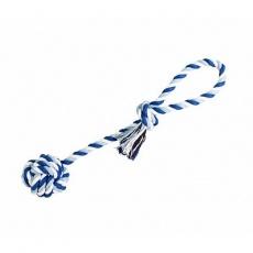 Přetahovadlo HipHop bavlněný míč, tm.modrá, sv.modrá, bílá