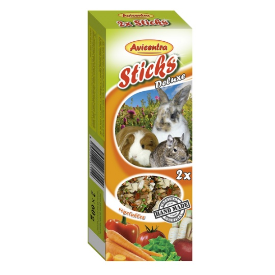 Avicentra Tyčinky deluxe so zeleninou pre králíkov, osmákov a dalšie hlodavce ( 2ks ) 120 g