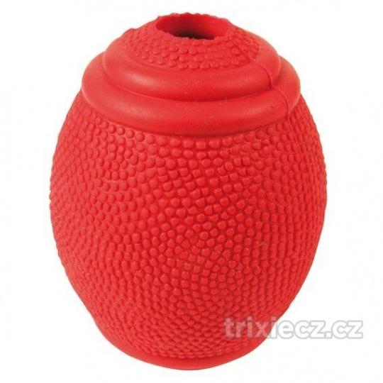 Rugby lopta na pamlsky tvrdá guma 8 cm