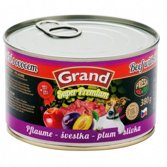 Grand SuperPremium Hovädzie & Slivky 380 g