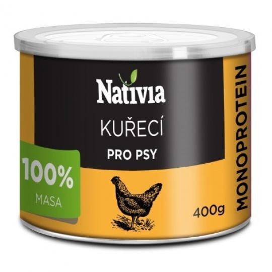NATIVIA Konzerva Kuracia svalovina 6 x 800 g