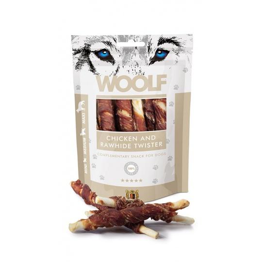 WOOLF pochúťka chicken and rawhide twister 100g