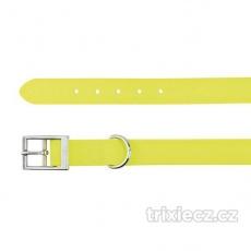 Easy Life obojok PVC M-L 43-51 cm/20 mm neon žltý