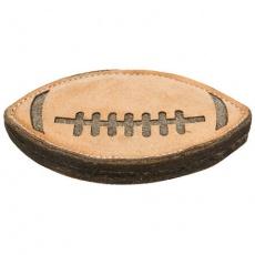 Rugby, hračka pro psy kůže/vlna, 20cm