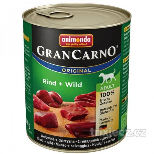Animonda Gran Carno Adult Hovädzie & Zverina 800 g
