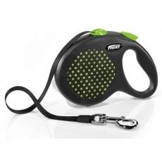 Flexi Design S páska 5 m (do 15 kg) zelené