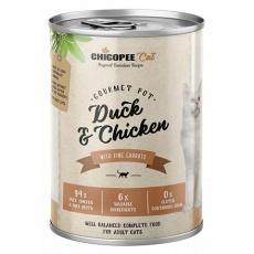 CHICOPEE ADULT GOURMET kachna, kuře konzerva pro kočky 400 g