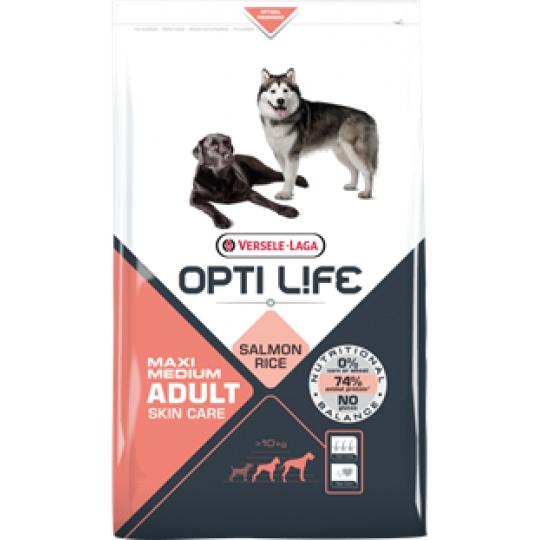 Versele Laga Opti Life Dog ADULT Skin Care Medium & Maxi 12,5 kg