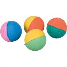Míčky mechová guma různobarevné 4,3 cm bal. 4ks
