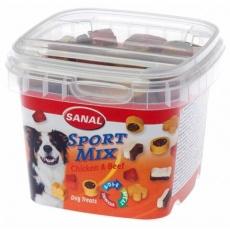 SANAL Sport MIX - poloměkké tvary kuře, hovězí 100 g - DOPRODEJ