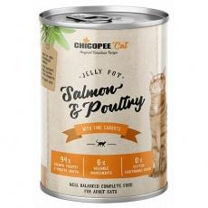 CHICOPEE ADULT JELLY losos, drůbeží konzerva pro kočky 400 g