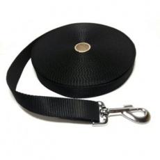 Vodítko DINOFASHION stopovací ploché černé 20m/2,5 cm