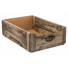Bedýnka do stojanu, karton v designu dřeva, 24.5 × 10.4 × 34.5 cm