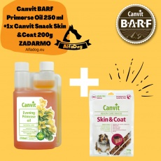 Canvit Evening Primose oil 250ml + 1x Canvit Snack Skin &Coat 200g ZDARMA
