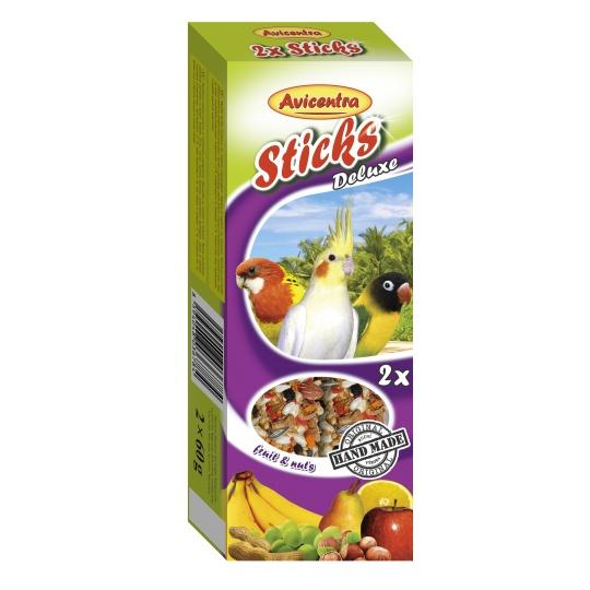 Avicentra Tyčinky deluxe s ovocím a orechmi pre malých papagájov ( 2 ks) 120 g