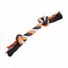 Uzel HipHop bavlněný 2  knoty, šedá - tm.šedá, oranžová
