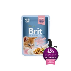 Brit Premium Cat Pouch with Chicken Fillets in Gravy for Kitten 85g