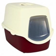 WC VICO kryté s dvířky, bez filtru 56 x 40 x 40 cm, korálově červená/bílá - DOPRODEJ