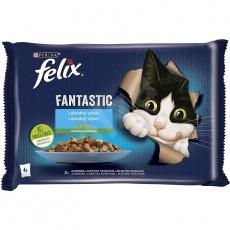 Felix Fantastic s lososom a cuketou, so pstruhom a zel. fazuľou 4× 85 g