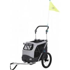 Trixie Vozík pre psa za bicykel s funkciou rýchleho  skladania S 58 x 93 x 74/114 cm šedý