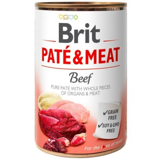 Brit konzerva Paté & Meat Beef 800 g