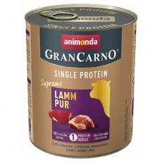 GRANCARNO Single Protein 800 g čisté jehněčí, konzerva pro psy