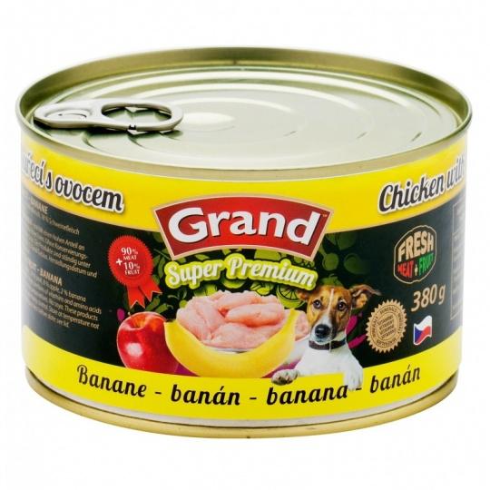 Grand SuperPremium Kura & Banán 380 g