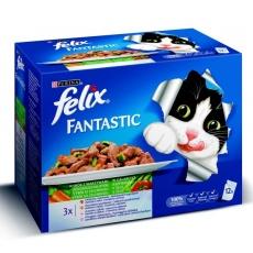 Felix Sensations Cat  Multipack Morka & Jahňa 48 x 100 g