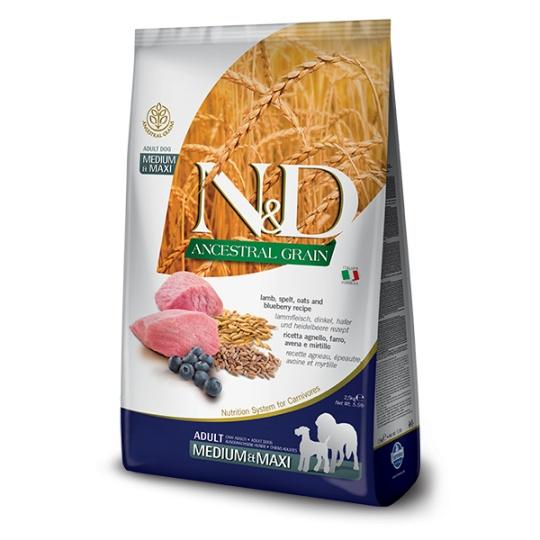 N&D Dog LG Adult Medium & Maxi Lamb & Blueberry 12 kg