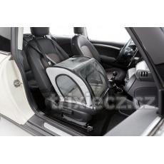 Autosedačka uzavíratelná, skládací, 4 strany celosíťové, 44 x 37 x 40 cm, šedo/černá