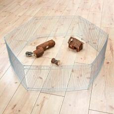 Pozinkovaná ohrádka pro myši a křečky 6 dílů 48 x 25 cm, ø 90 cm