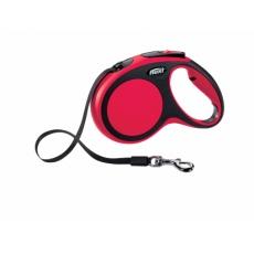 Flexi New Comfort S páska 5 m (do 15 kg) červené