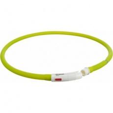 Flash USB svítící obojek XS-XL 70 cm / 10 mm,  zelený (RP 2,10 Kč)